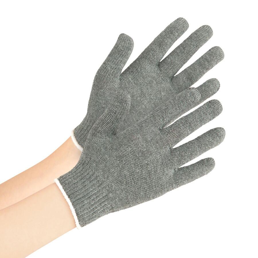 【キッズ用】接触感染予防手袋 抗菌・消臭・抗ウイルス素材DEW(R) MS102 子供用 のびのびタイプ グレー