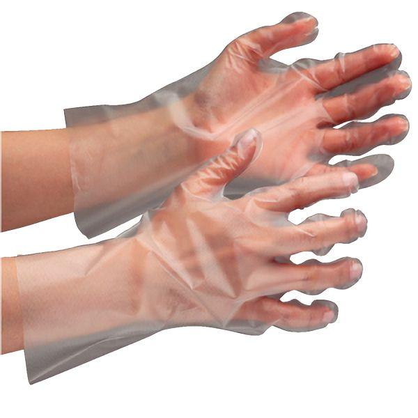 【6000枚入】 外エンボスポリエチぴったり手袋 ベルテ575 クリアー 使い捨て ディスポ手袋 (200枚×30箱) お得な大箱入り 6,000枚!収納性に便利な箱入りタイプ
