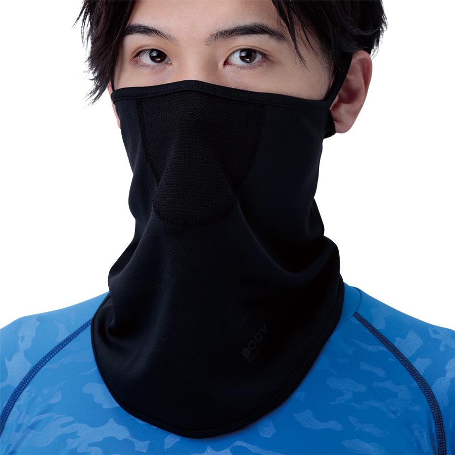接触冷感 BTクールウェットフェイスマスク おたふく手袋 JW-600 ブラック