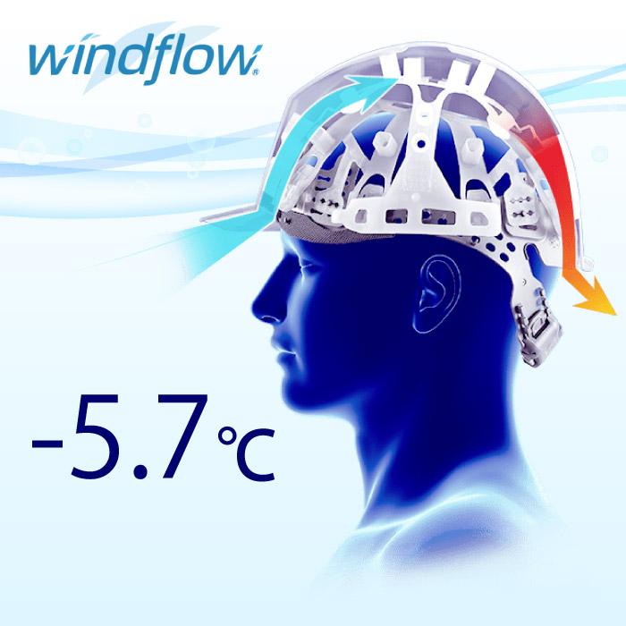 -5.7℃涼しいヘルメット内装 windflow
