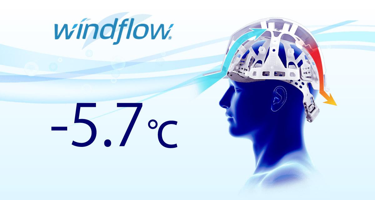 涼しいヘルメット windflow
