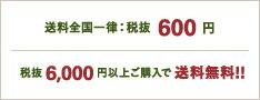 送料全国一律:税抜600円 税抜6000円以上ご購入で送料無料