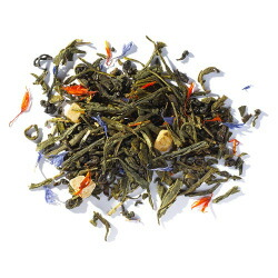 グリーンティートロピカルの茶葉