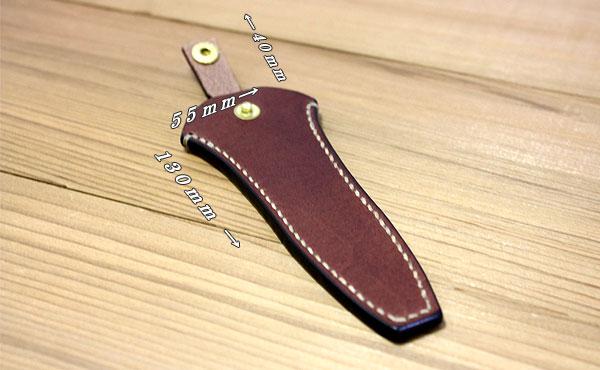 天然ヌメ革総手縫いの腰付けベルト