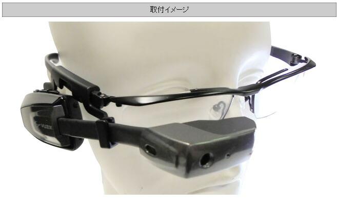 M100スマートグラス用メガネ取付イメージ