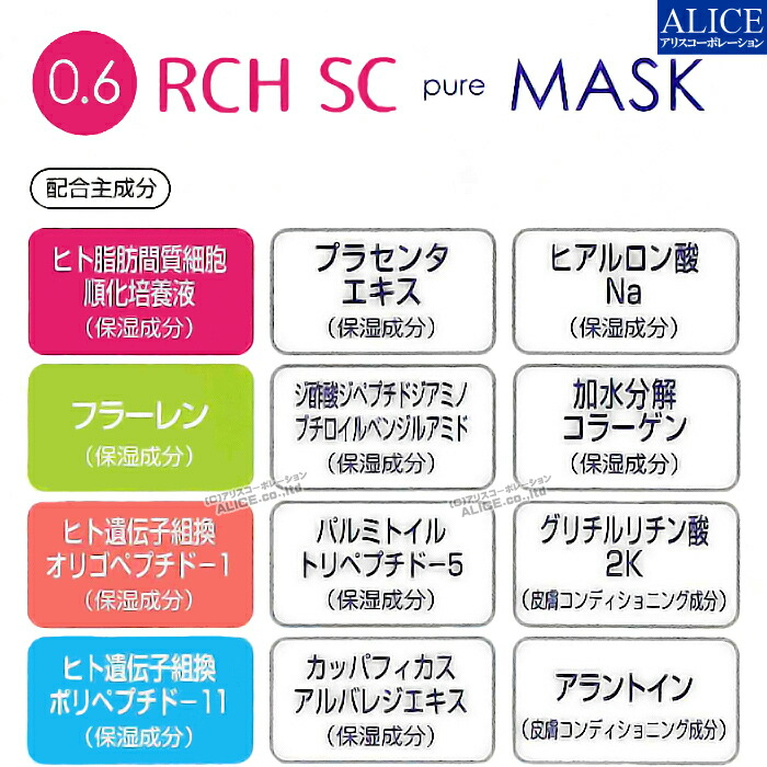 RCH SC ピュアマスク エンチーム ヒト脂肪間質細胞培養エキス 幹細胞 マスク シート