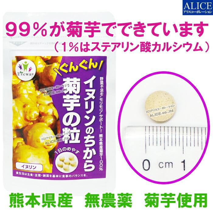 99%が熊本産菊芋で出来ています