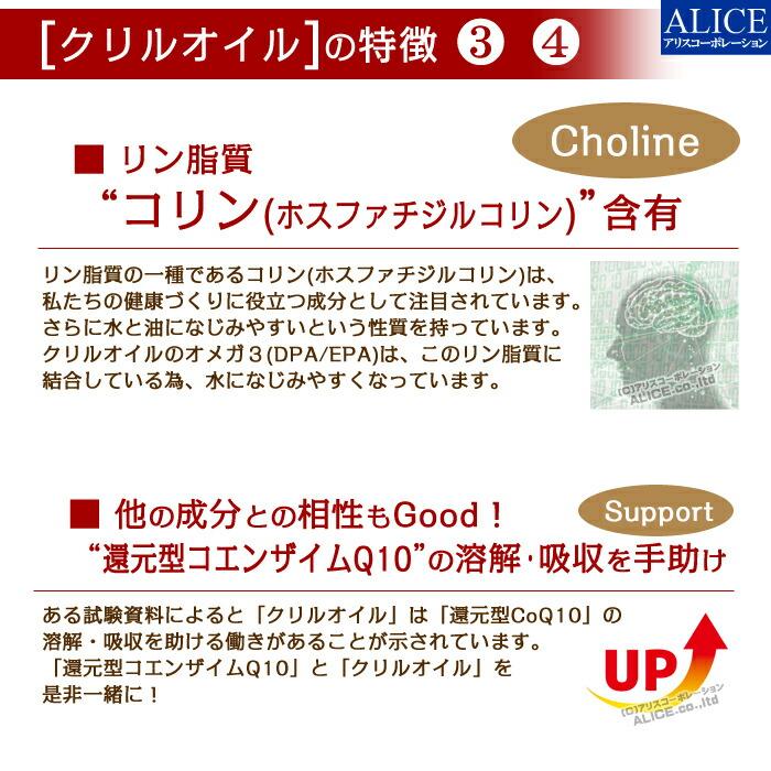 クリルオイル リン脂質コリン 還元型コエンザイムQ10