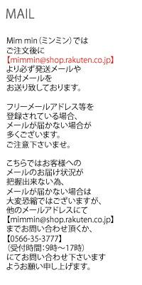 大きいサイズミンミン☆メールに関しての注意事項
