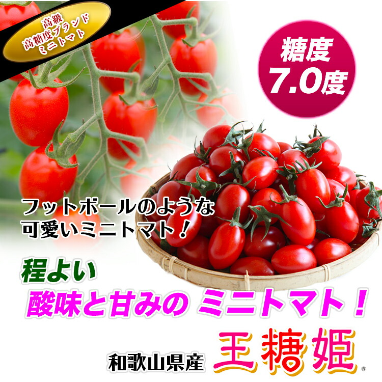 王糖姫【ミニトマト】【ミニとまと】【みにとまと】【甘い】【国産トマト】【フルーツトマト】