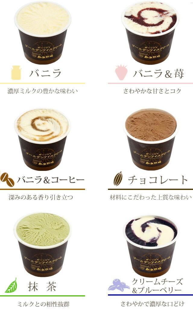 アイスの味の説明6種