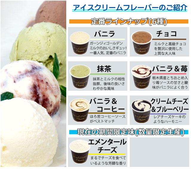 アイスの味の説明7種
