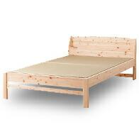 日本製ひのき畳ベッド棚コンセント付
