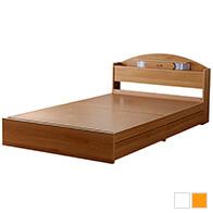 日本製照明付二杯収納ベッド