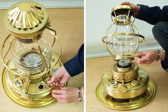 Minatodenk Nissen Oil Heater Is 3 Brass Gold Frame