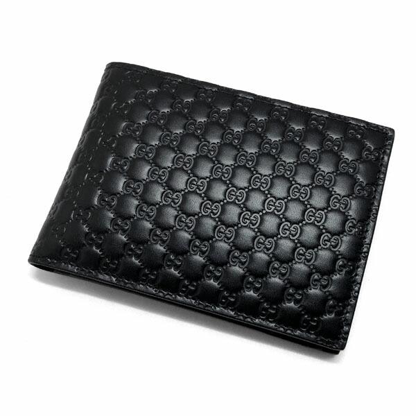 3098d23d583c GUCCIから人気のマイクログッチシマレザーを使用したメンズ 二つ折り財布の入荷です。  シンプルでシックなデザインになっており、年齢問わず末長くお使い頂けます。