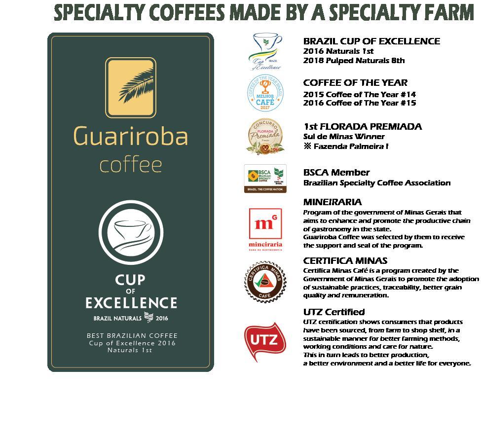 ブラジル グアリロバ農園 スペシャルティコーヒー 生豆