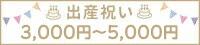 出産祝い3000円前後