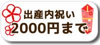 出産内祝い2000円まで