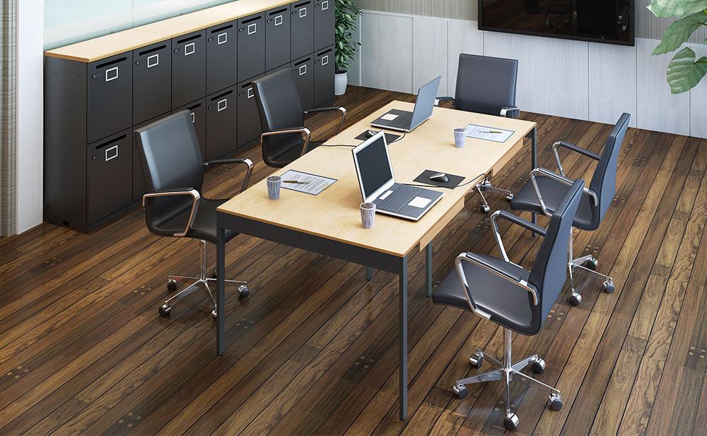 ミーティングテーブル 会議デスク 使用イメージ