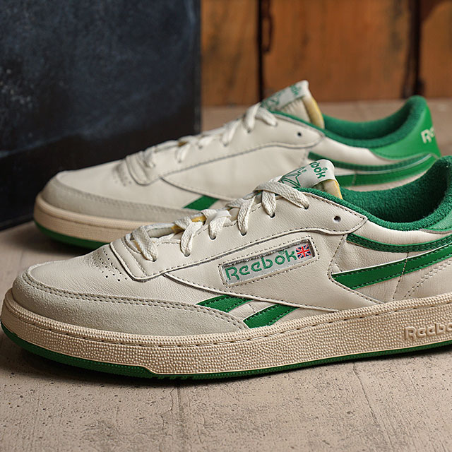 hot reebok men green classic leather vintage sneakers 5d6de
