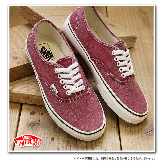 d497e235ba □□VANS vans sneakers CLASSICS AUTHENTIC classical music authentic (WASHED)  RIO RED (VN-0QER6HF FW12)