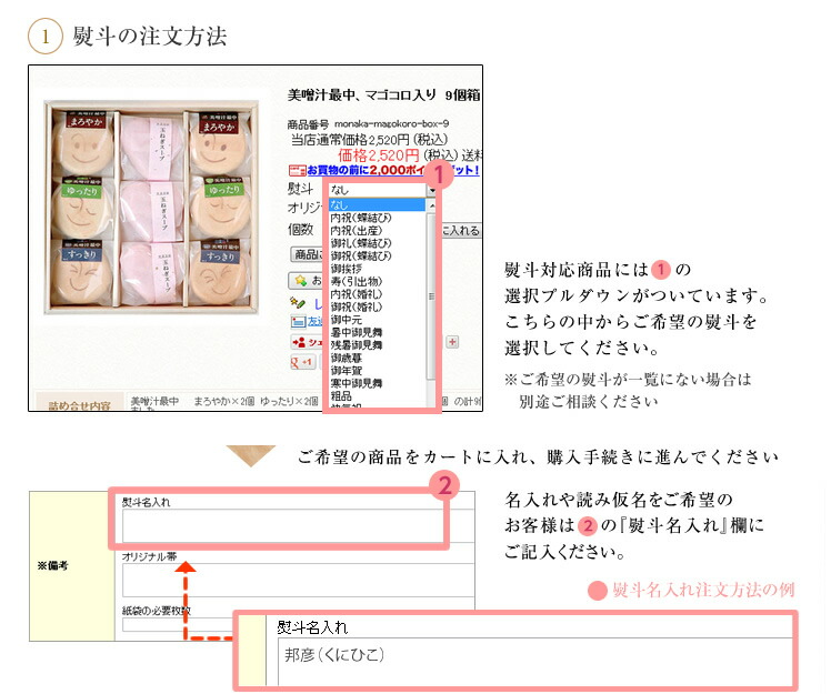 熨斗の注文方法