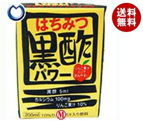 【送料無料】 日本ルナ はちみつ黒酢パワー 200ml紙パック×16本入※北海道・沖縄・離島は別途送料が必要。