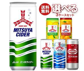 【送料無料】 アサヒ飲料 三ツ矢・ウィルキンソン 選べる3ケースセット 250ml缶×60(20×3)本入 ※北海道・沖縄・離島は別途送料が必要。