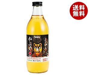 【送料無料】 青森県りんごジュース シャイニー アップルジュース ねぶた(透明) 1L瓶×6本入※北海道・沖縄・離島は別途送料が必要。