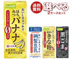 【送料無料】 ソヤファーム おいしさスッキリ 豆乳飲料 選べる2ケースセット 200ml紙パック×48(24×2)本入 ※北海道・沖縄・離島は別途送料が必要。