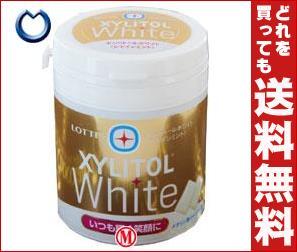 【送料無料】 ロッテ キシリトール ホワイト シャインミント ファミリーボトル 143g×6個入