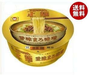 【送料無料】 東洋水産 マルちゃん正麺 カップ 香味まろ味噌 123g×12個入 ※北海道・沖縄・離島は別途送料が必要。