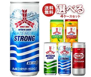 【送料無料】 アサヒ飲料 三ツ矢・ウィルキンソン 選べる4ケースセット 250ml缶×80(20×4)本入 ※北海道・沖縄・離島は別途送料が必要。