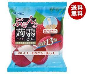 【送料無料】 オリヒロ ぷるんと蒟蒻ゼリー ライチ 20g×6個×24袋入 ※北海道・沖縄・離島は別途送料が必要。