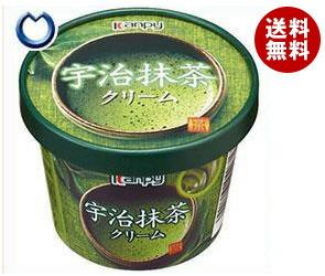 【送料無料】 カンピー 紙カップ 宇治抹茶クリーム 140g×6個入 ※北海道・沖縄・離島は別途送料が必要。