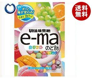 【送料無料】 UHA味覚糖 UHAピピン e-maのど飴 袋 (カラフルフルーツチェンジ) 50g×6袋入 ※北海道・沖縄・離島は別途送料が必要。