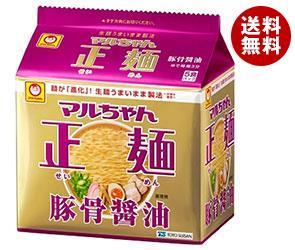 【送料無料】 東洋水産 マルちゃん正麺 豚骨醤油 5食パック×6個入 ※北海道・沖縄・離島は別途送料が必要。