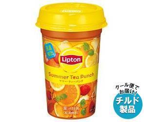 【送料無料】 【チルド(冷蔵)商品】 森永乳業 リプトン Summer Tea Punch (サマー・ティーパンチ) 240ml×10本入 ※北海道・沖縄・離島は別途送料が必要。