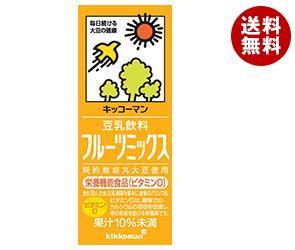 【送料無料】 キッコーマン 豆乳飲料 フルーツミックス 200ml紙パック×18本入※北海道・沖縄・離島は別途送料が必要。
