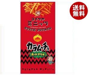送料無料 コイケヤ コイケヤミニッツ スティックカラムーチョ ホットチリ味 40g×12(6×2)袋入 ※北海道・沖縄・離島は別途送料が必要。