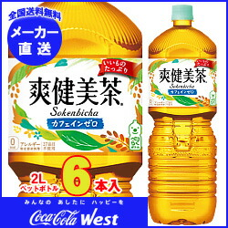 【全国送料無料・メーカー直送品・代引不可】 コカコーラ 爽健美茶 2Lペットボトル×6本入