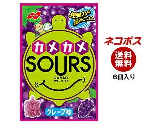 【全国送料無料】【ネコポス】 ノーベル製菓 サワーズ(SOURS) グレープ味 45g×6個入