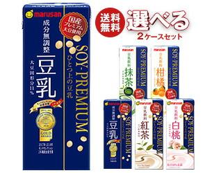 【送料無料】 マルサンアイ ひとつ上の豆乳 200ml紙パック 選べる2ケースセット 48(24×2)本入 ※北海道・沖縄・離島は別途送料が必要。