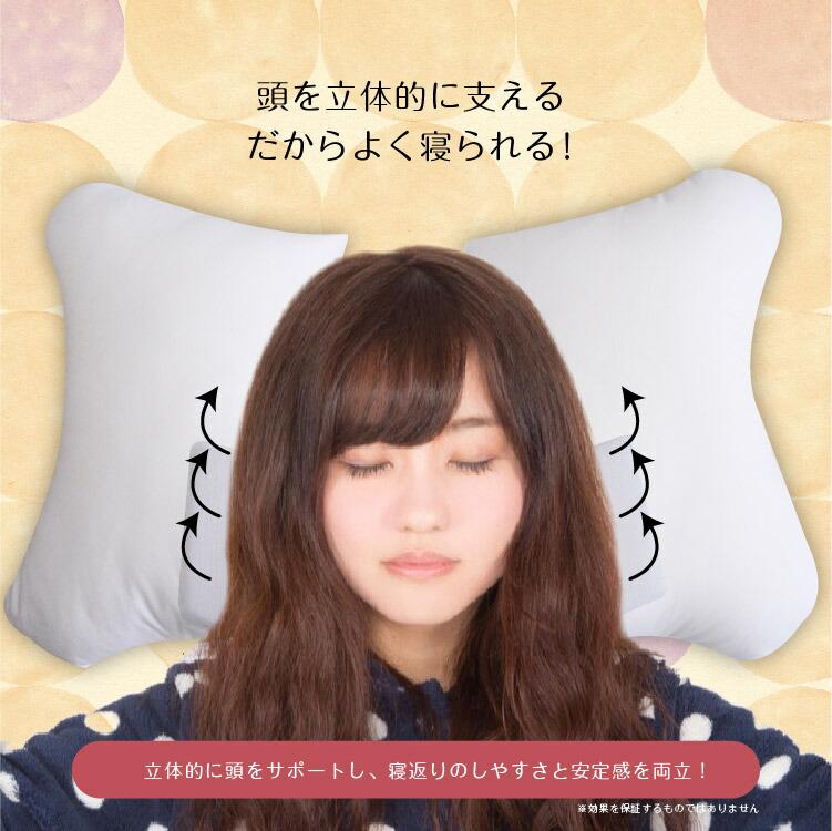 枕 快眠 母の日プレゼント 高機能枕 イオン かわいい