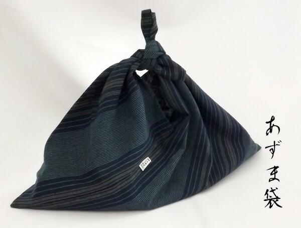 遠州綿紬縞紬あずま袋