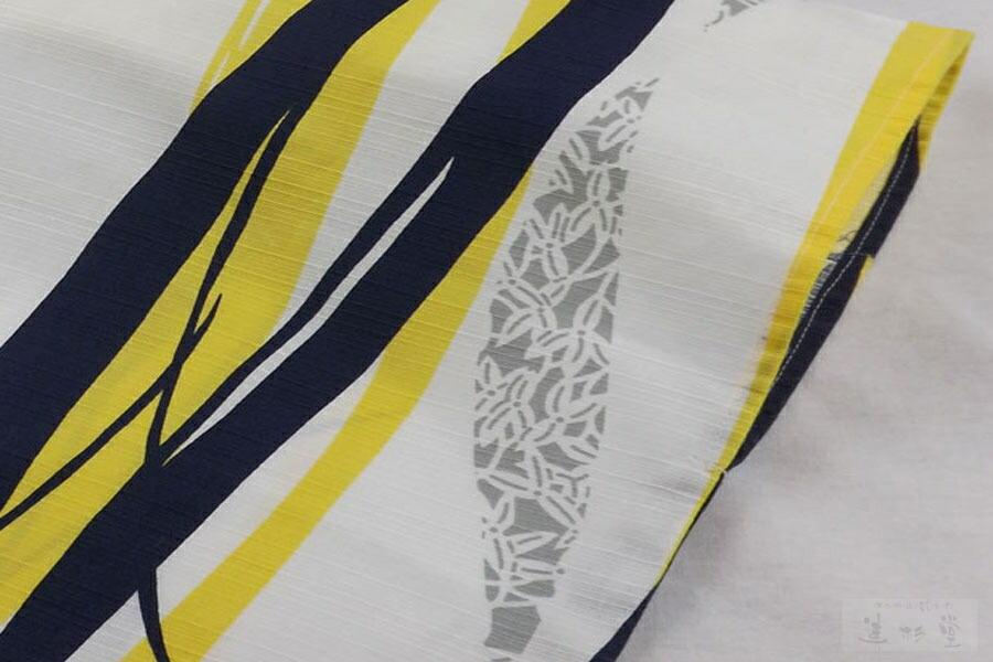 井伊谷四季の旅館浴衣 沢瀉小紋縞(おもだかこもんしま)
