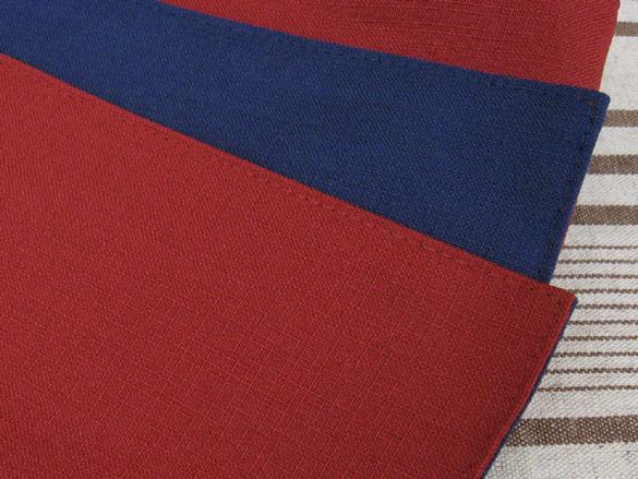 日本製 浴衣帯 大人用 8×270 リバーシブル 紺×エンジ