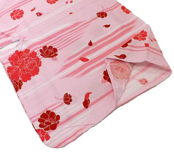 矢羽にバラ ピンク