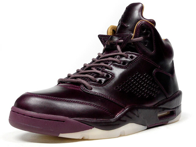 "NIKE AIR JORDAN 5 RETRO PREM ""BORDEAUX"" ""MICHAEL JORDAN"" ""LIMITED EDITION for JORDAN BRAND""  BGD/BGE/WHT (881432-612)"